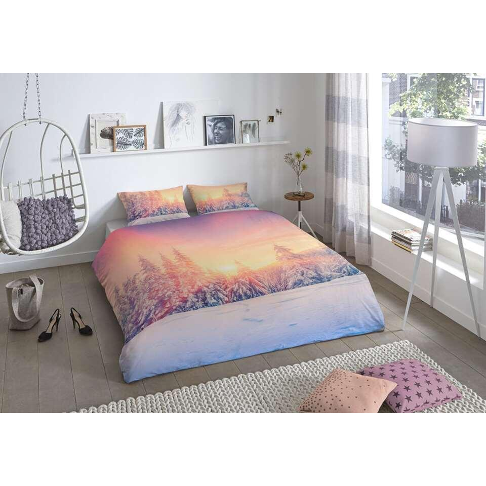 Good Morning dekbedovertrek Snow - multikleur - 200x200/220 cm