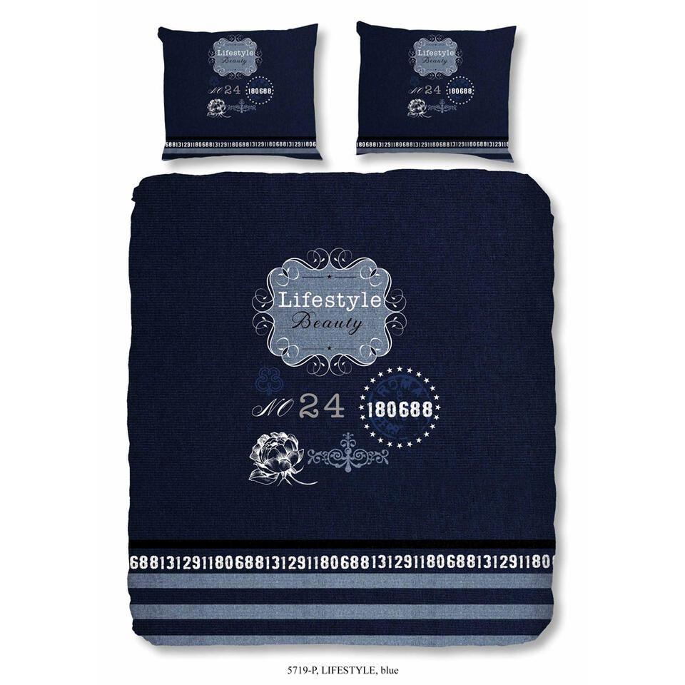 Good Morning dekbedovertrek Lifestyle - blauw - 240x200/220 cm