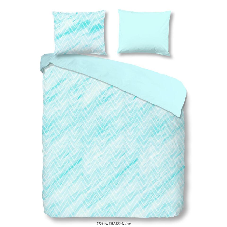 Good Morning dekbedovertrek Sharon - blauw - 240x200/220 cm - Leen Bakker