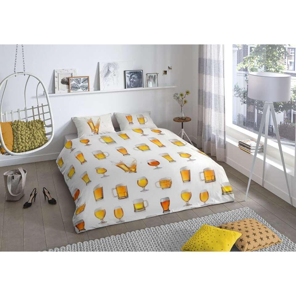 Good Morning dekbedovertrek Beer - wit - 240x200/220 cm - Leen Bakker