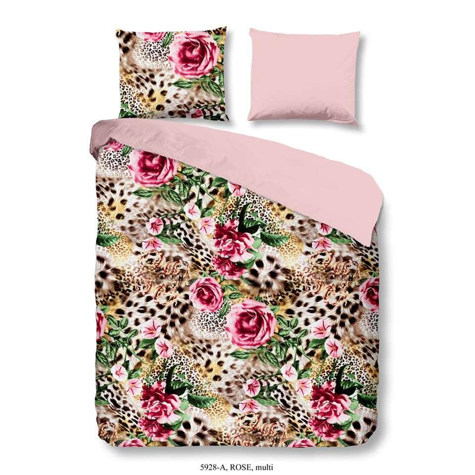 Good Morning dekbedovertrek Rose - multikleur - 200x200/220 cm