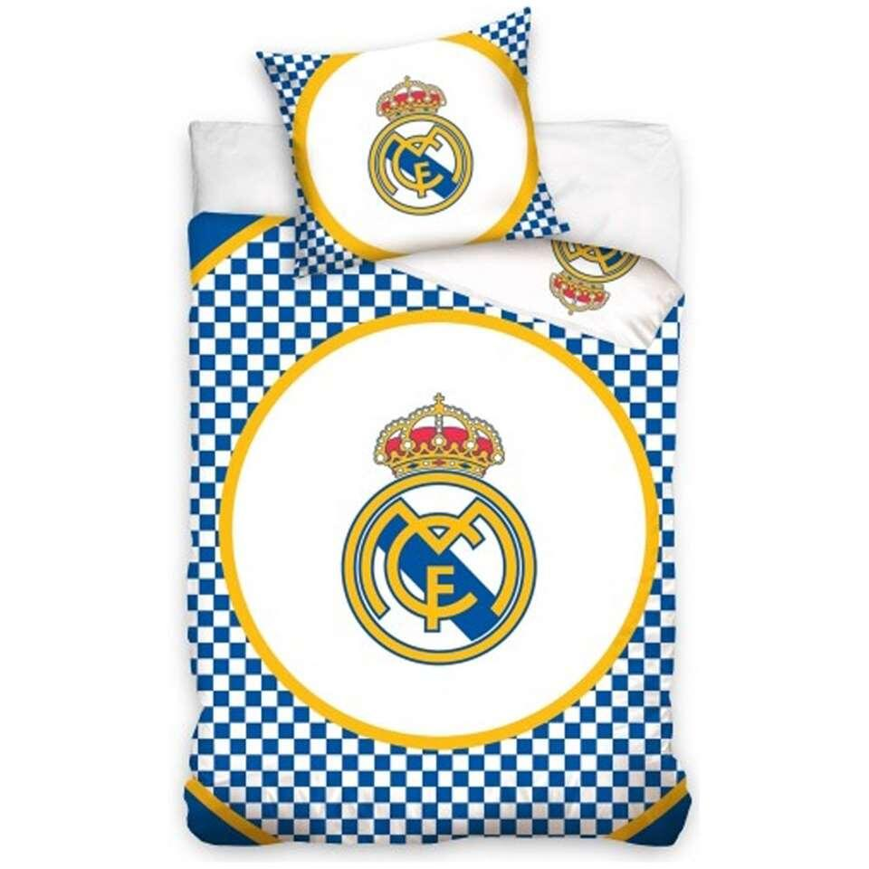 Dekbedovertrek Real Madrid Checkers - wit - 140x200 cm