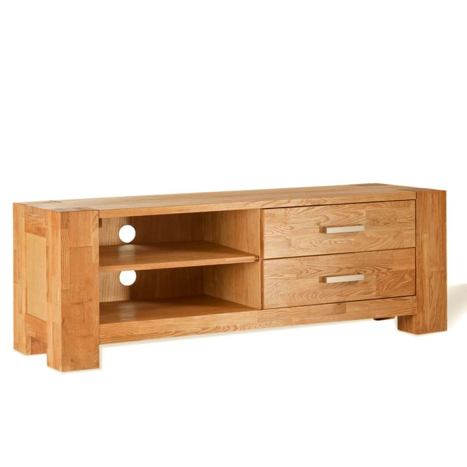 TV-meubel Wouter 2 lades - eikenkleur - 47x133x44 cm - Leen Bakker