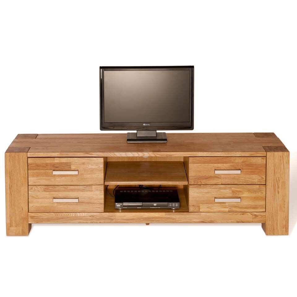 TV-meubel Wouter 4 lades - eikenkleur - 47x150x44 cm - Leen Bakker