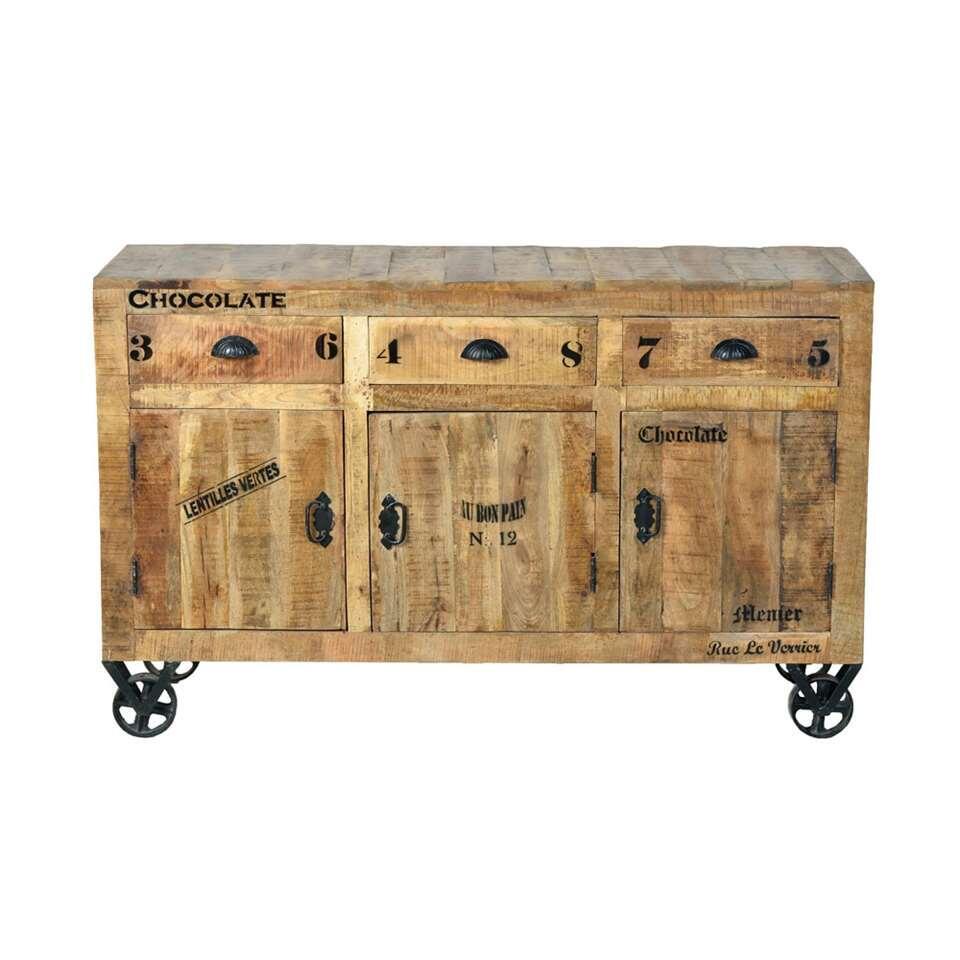 Dressoir Guus - bois de manguier - 86x140x40 cm