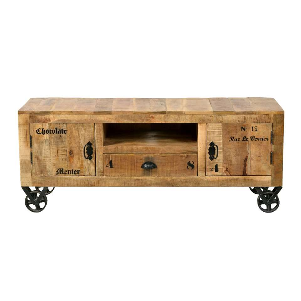 TV-meubel Guus - bruin - 55x140x40 cm - Leen Bakker