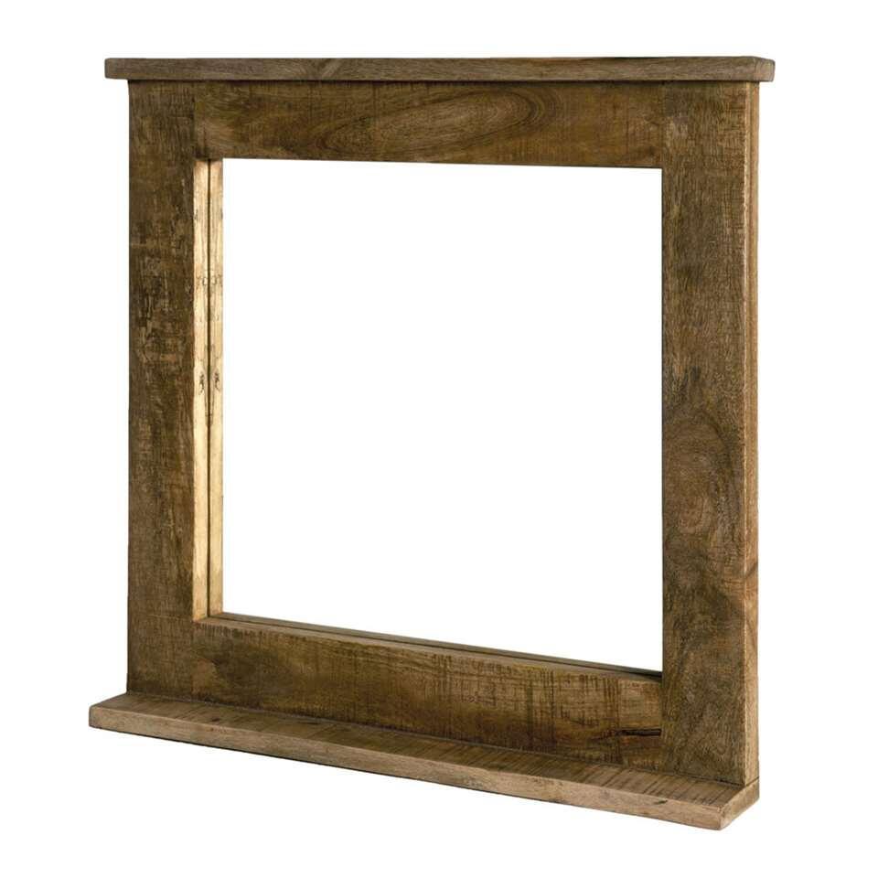 Spiegel Jarn – bruin – 67x70x9 cm – Leen Bakker