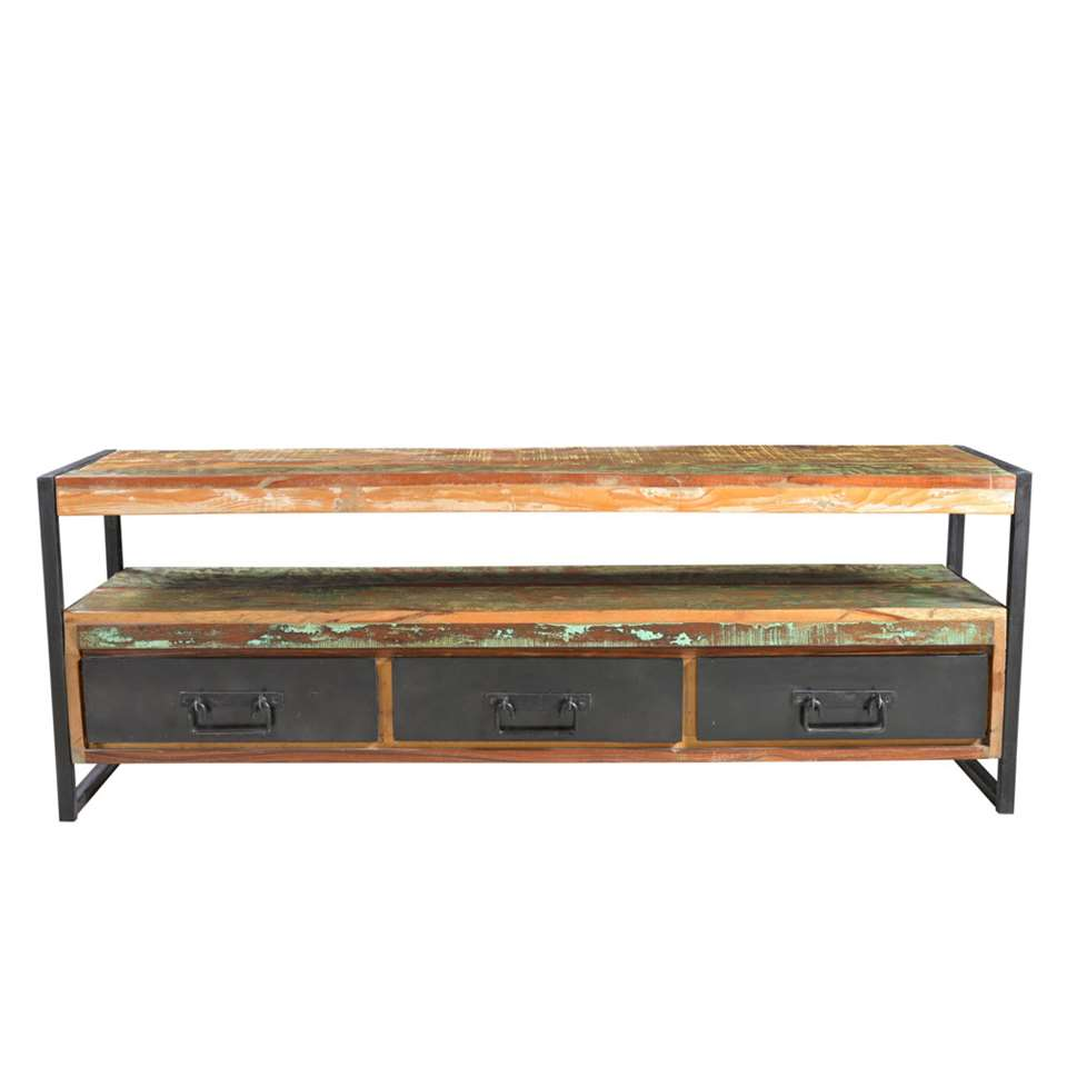 TV-meubel Lucas - multikleur - 55x155x40 cm - Leen Bakker