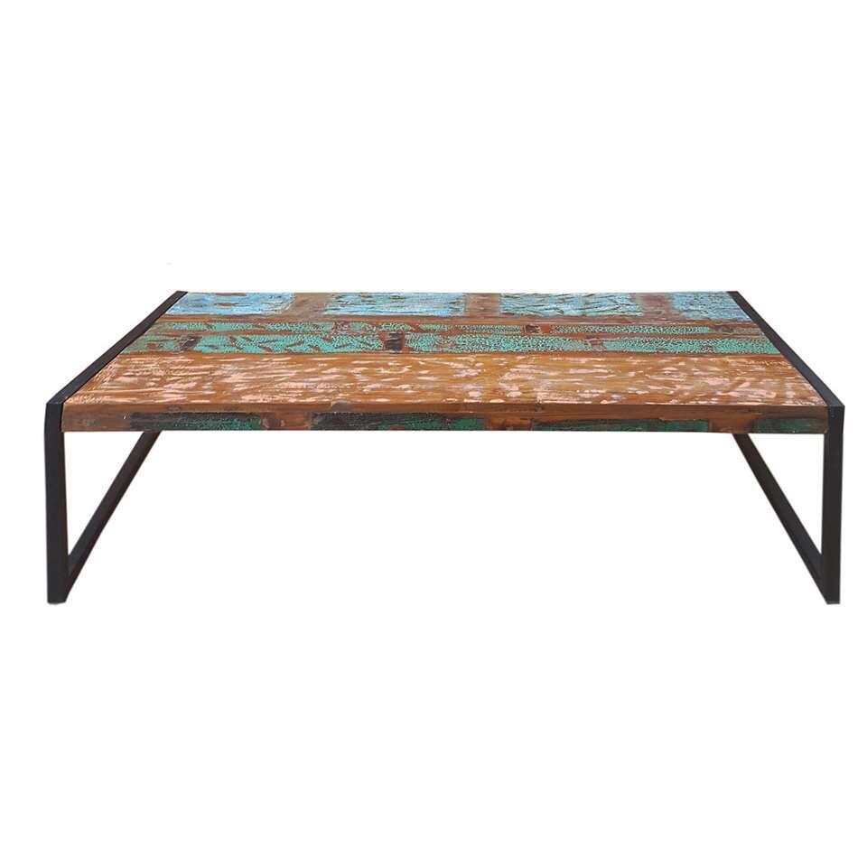 Salontafel Lucas - multikleur - 35x115x70 cm - Leen Bakker