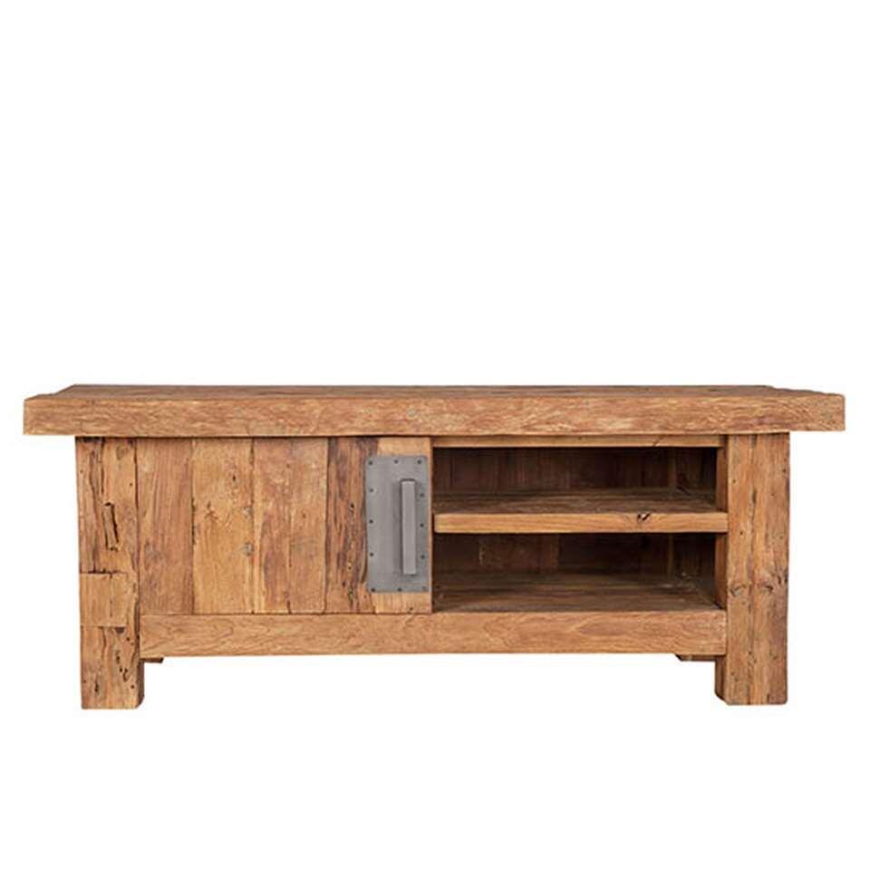 TV-meubel Freek - bruin - 50x130x45 cm - Leen Bakker