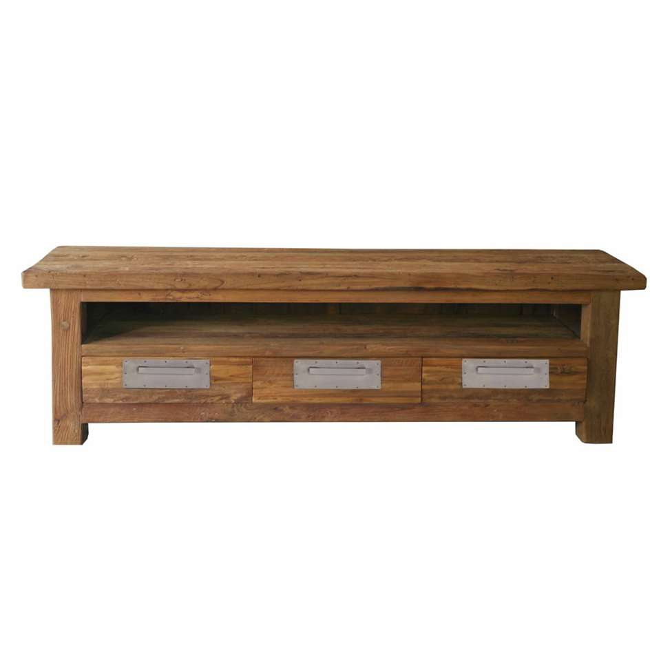 TV-meubel Freek - bruin - 45x200x50 cm - Leen Bakker