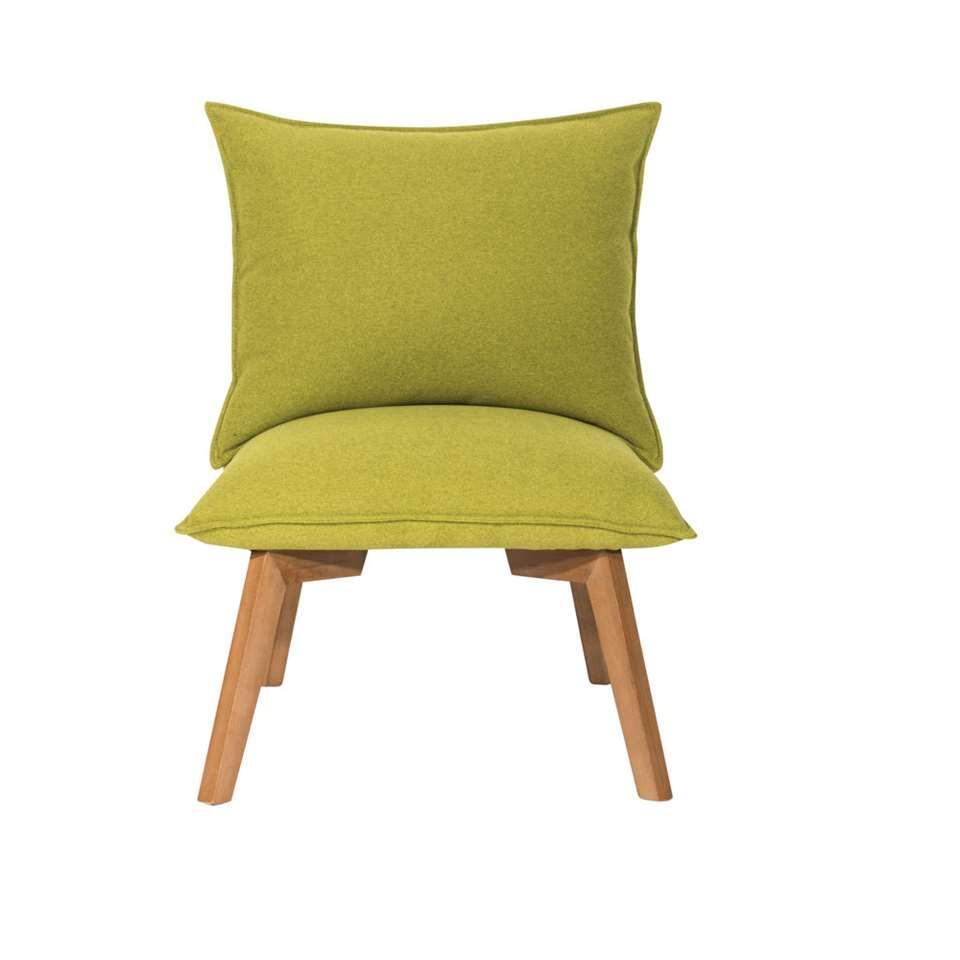 Fauteuil Ringe - stof - groen - Leen Bakker
