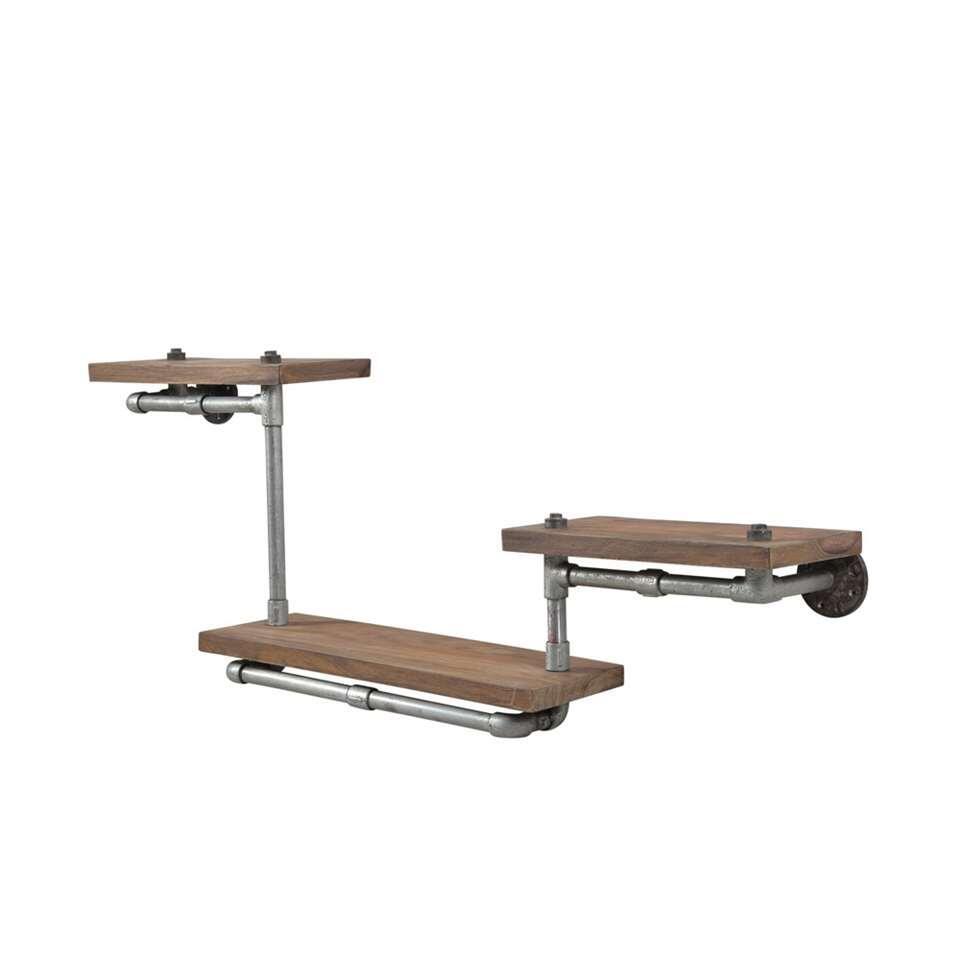 Wandplank Scott - bruin - 3 planken