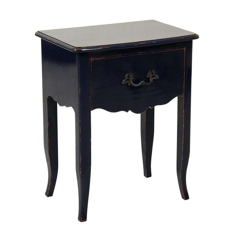 Wandtafel Faye - donkerblauw - 69x55x37 cm - Leen Bakker