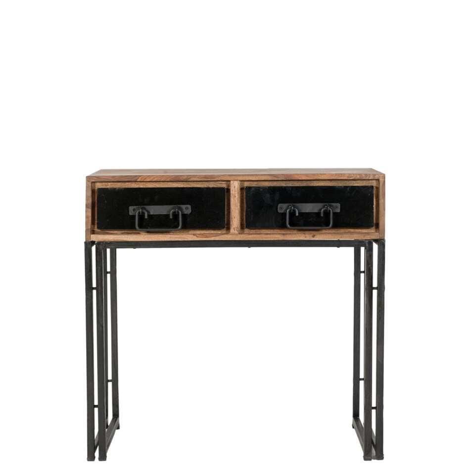 Haltafel Quin - bruin - 76x80x40 cm - Leen Bakker