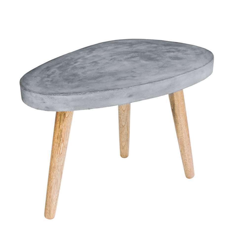 Salontafel Leka - grijs - 52x72x50 cm - Leen Bakker