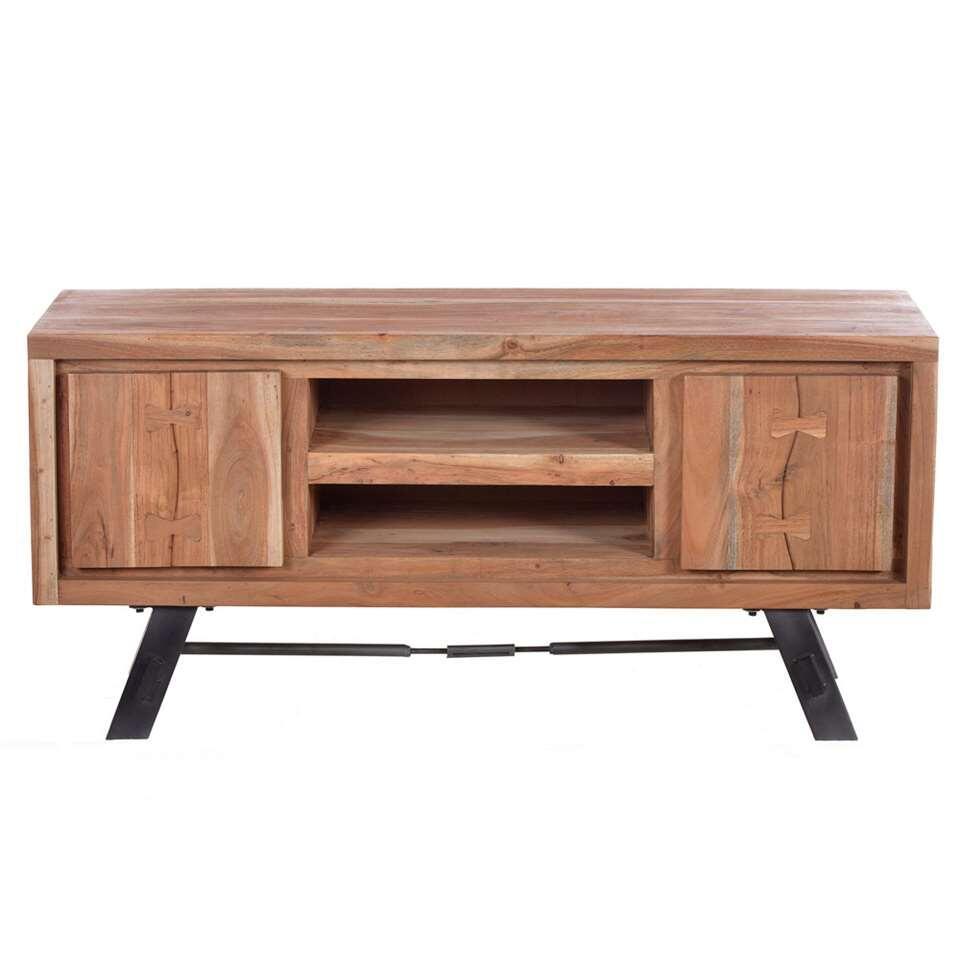 TV-meubel Louis - acaciahout - 130x60x40 cm - Leen Bakker