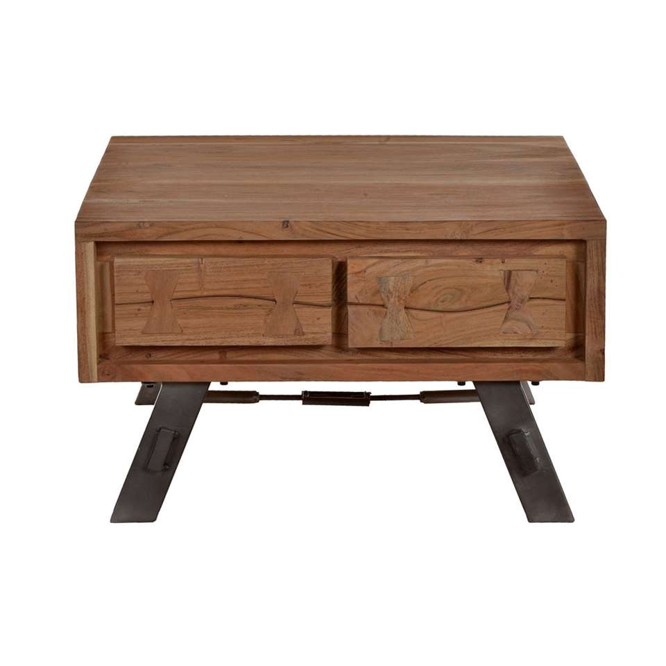 Salontafel Louis - acacia - 70x40x70 cm - Leen Bakker