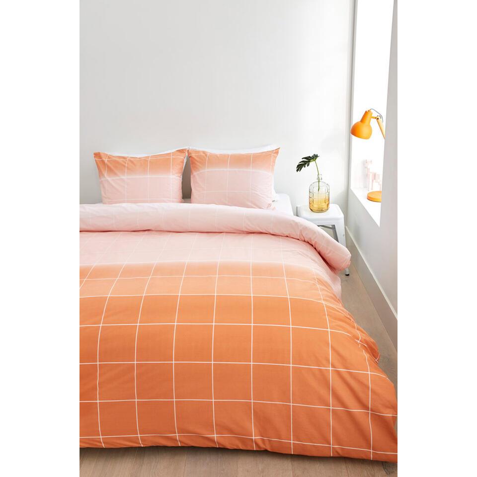 Ambiante dekbedovertrek Jody - oranje - 140x200/220 cm - Leen Bakker