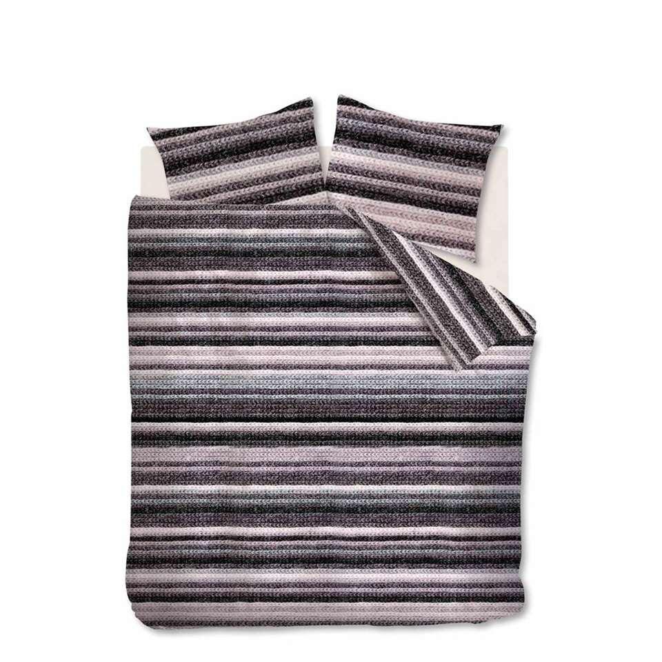 Ambiante dekbedovertrek Olivier – grijs – 240×200/220 cm – Leen Bakker