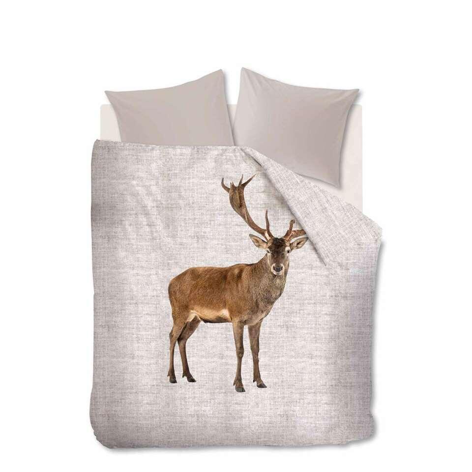 Ambiante dekbedovertrek Cute Deer - beige - 200x200/220 cm