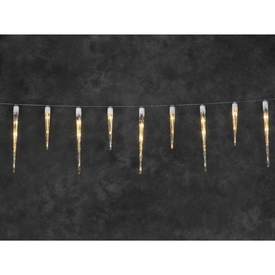 Konstsmide LED-snoer ijspegel - 24 lampjes - binnen - Leen Bakker