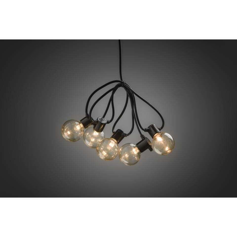 konstsmide led lichtsnoer globe 10 lampjes extra warm wit op batterij