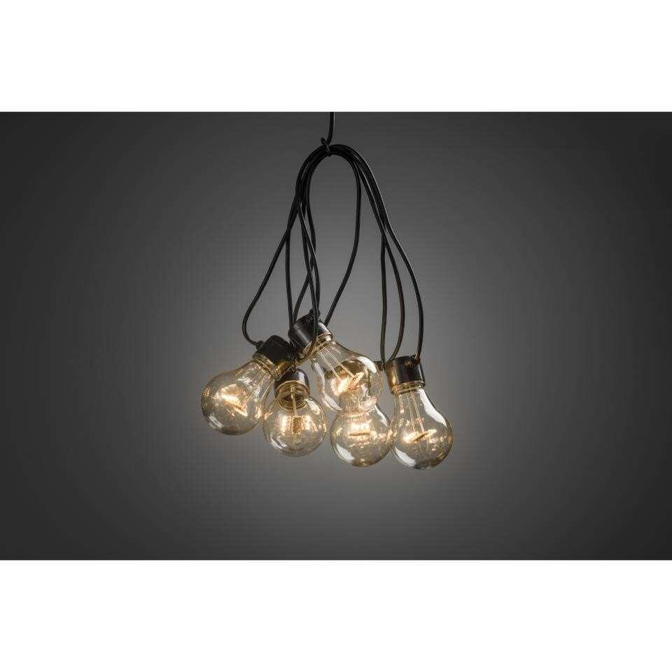 Konstsmide LED-lichtsnoer Peer - 10 lampjes - extra warm wit - Leen Bakker