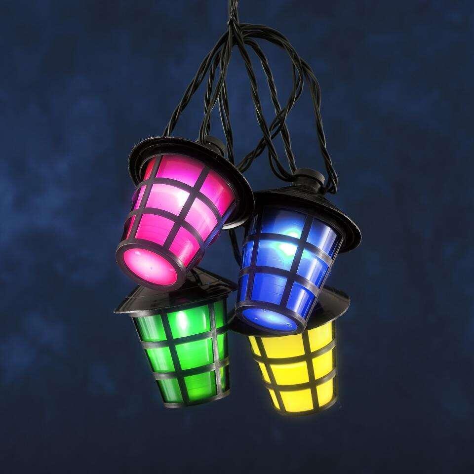 Konstsmide LED-lantaarnsnoer 4162 - 20 lampjes - multikleur - Leen Bakker