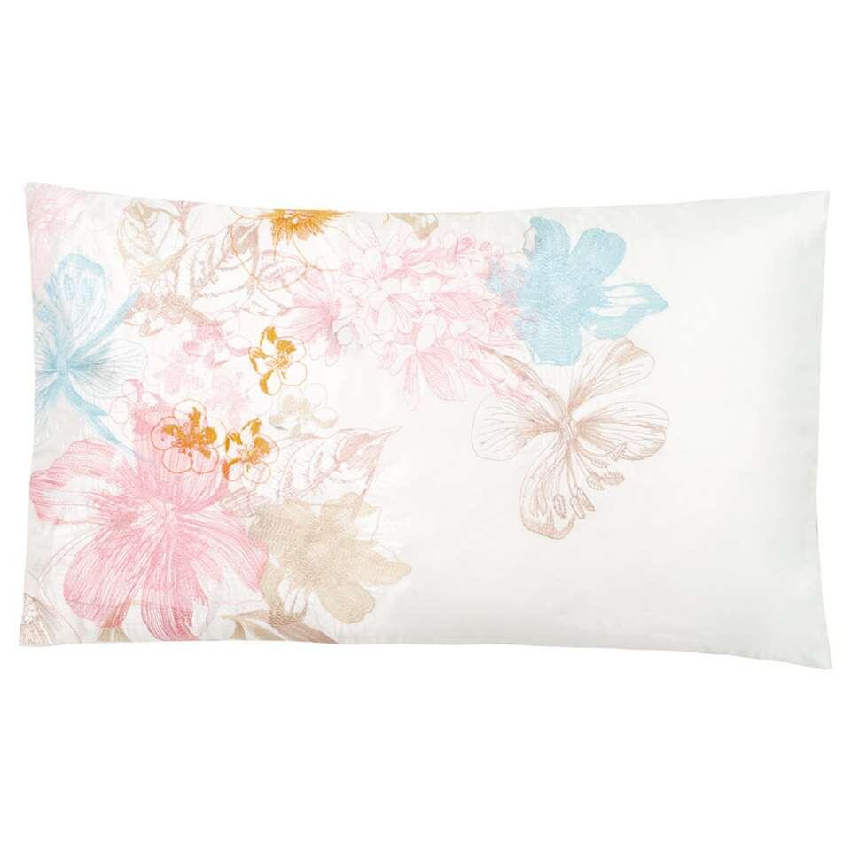 Ariadne at Home sierkussen Tender Dreams - wit/roze - 30x50 cm - Leen Bakker