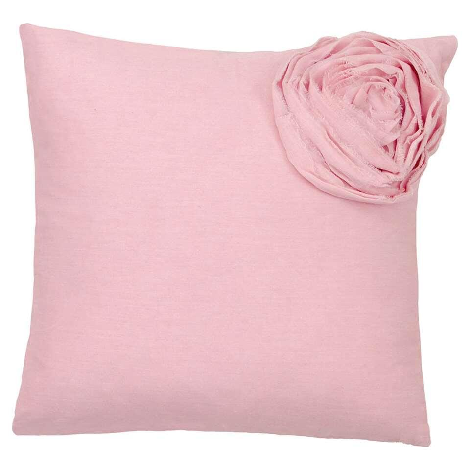 Ariadne at Home sierkussen Soft Rose - roze - 40x40 cm - Leen Bakker