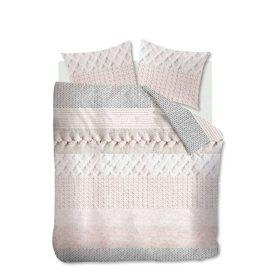Ariadne at Home dekbedovertrek Spring knit - naturel - 200x200/220 - Leen Bakker