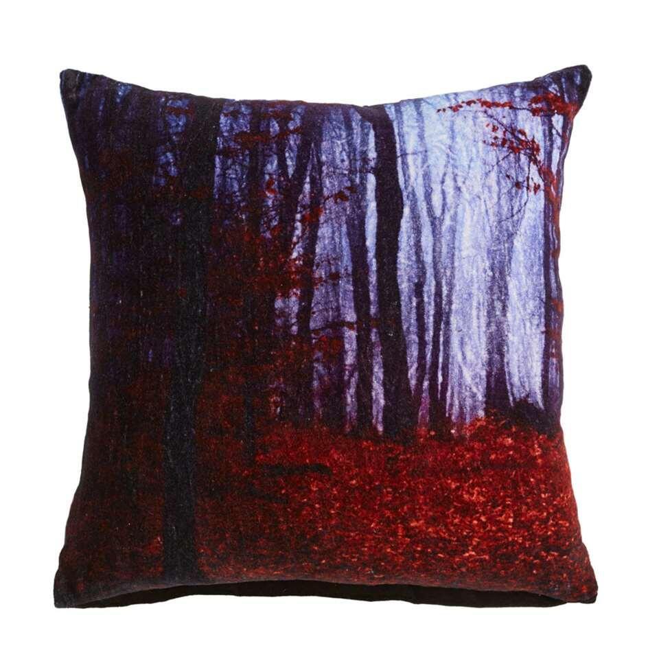 Kaat Amsterdam sierkussen Redwood - rood - 45x45 cm - Leen Bakker
