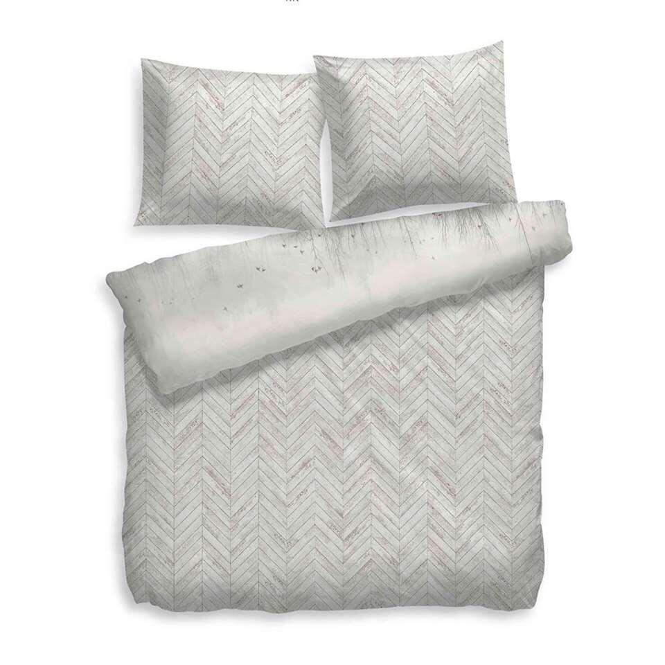Heckett & Lane dekbedovertrek Will - grijs - 200x200/220 cm