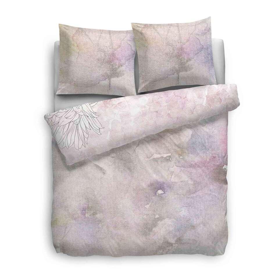 Heckett & Lane dekbedovertrek Lucy - roze - 140x200/220 cm - Leen Bakker