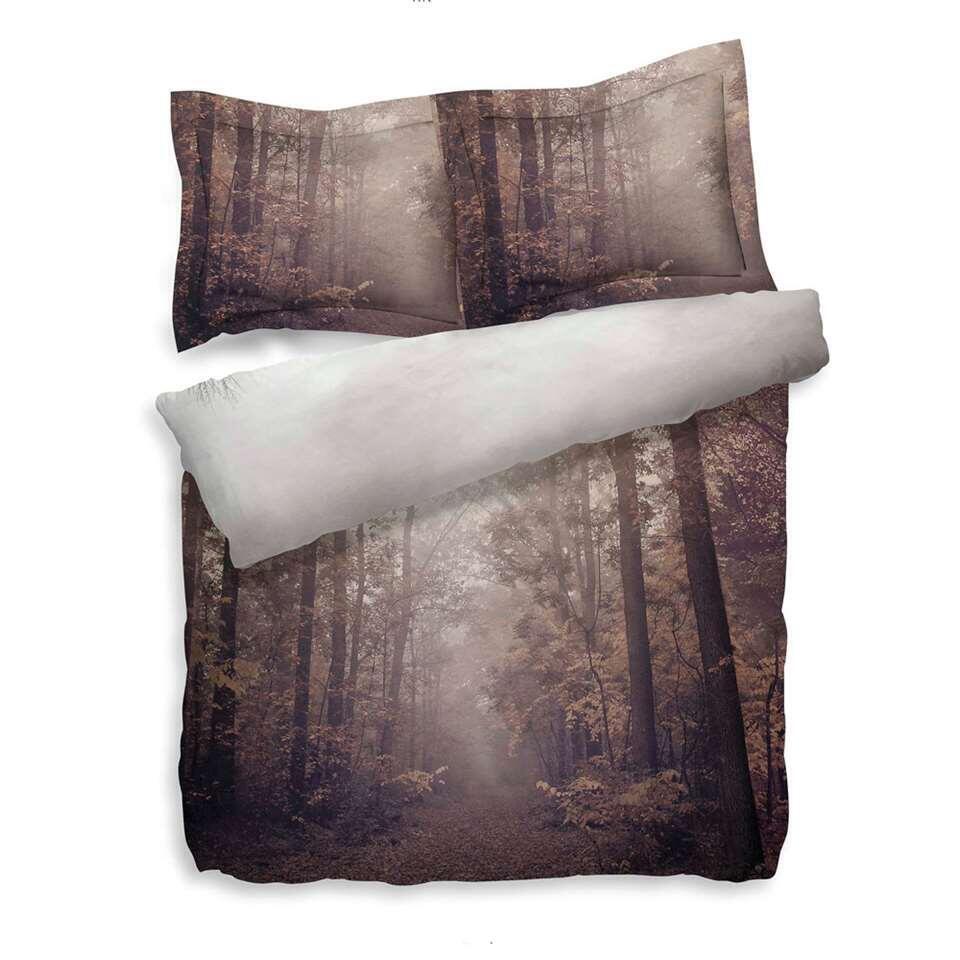 Heckett & Lane dekbedovertrek Berk – bruin – 200×200/220 cm – Leen Bakker