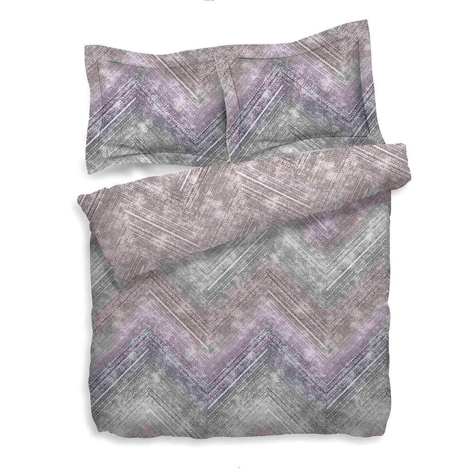 Heckett & Lane dekbedovertrek Anise - paars/roze - 200x200/220 cm - Leen Bakker