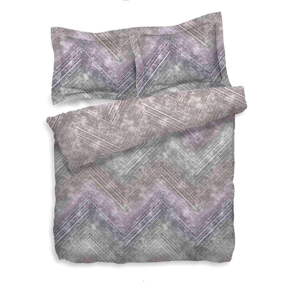 Heckett & Lane dekbedovertrek Anise - paars/roze - 260x200/220 cm - Leen Bakker