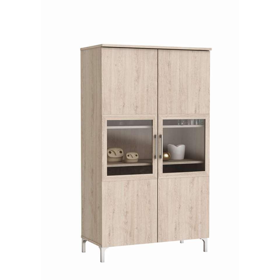 Demeyere buffetkast Chic 2-deurs - eikenkleur -140x80x39,6 cm - Leen Bakker