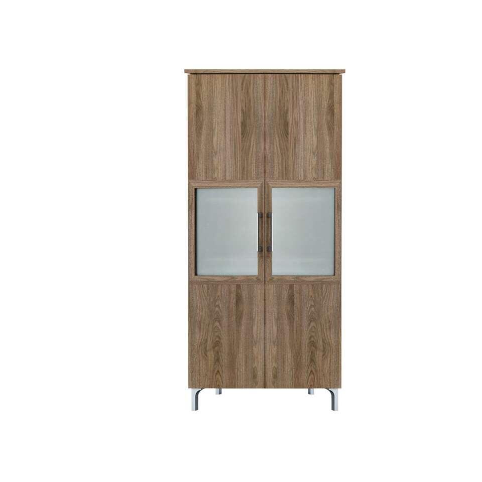 Demeyere buffetkast Chic 2-deurs - walnootkleur -140x80x39,6 cm - Leen Bakker