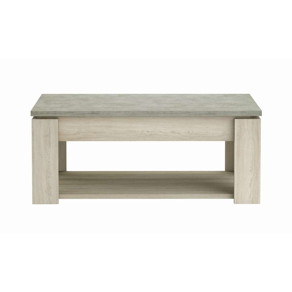 Demeyere salontafel Cordoue - licht eikenkleur - 45,5x110x60 cm - Leen Bakker