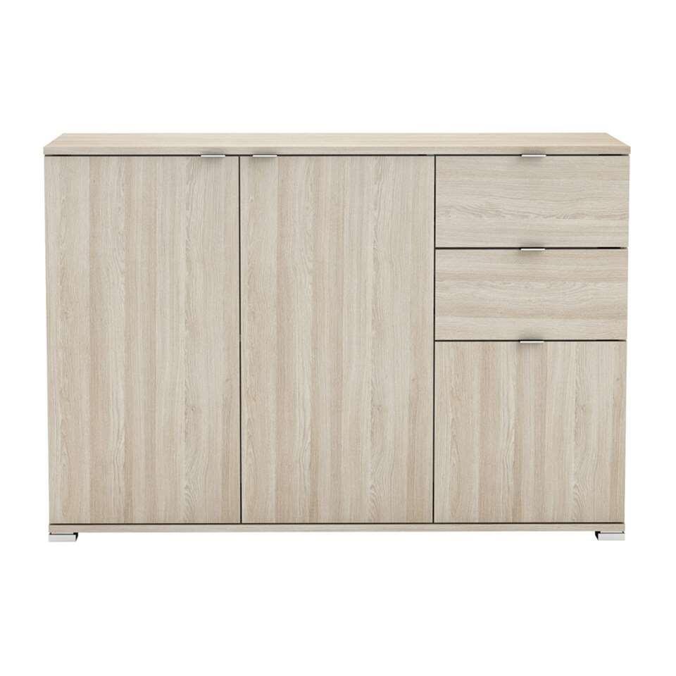 Demeyere dressoir Perfect 3-deurs - licht eiken - 82x120x42 cm - Leen Bakker