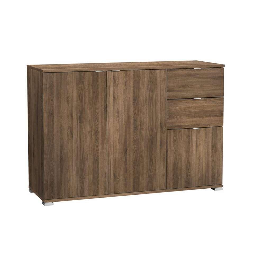 Demeyere dressoir Perfect 3-deurs - walnootkleur - 82x120x42 cm - Leen Bakker