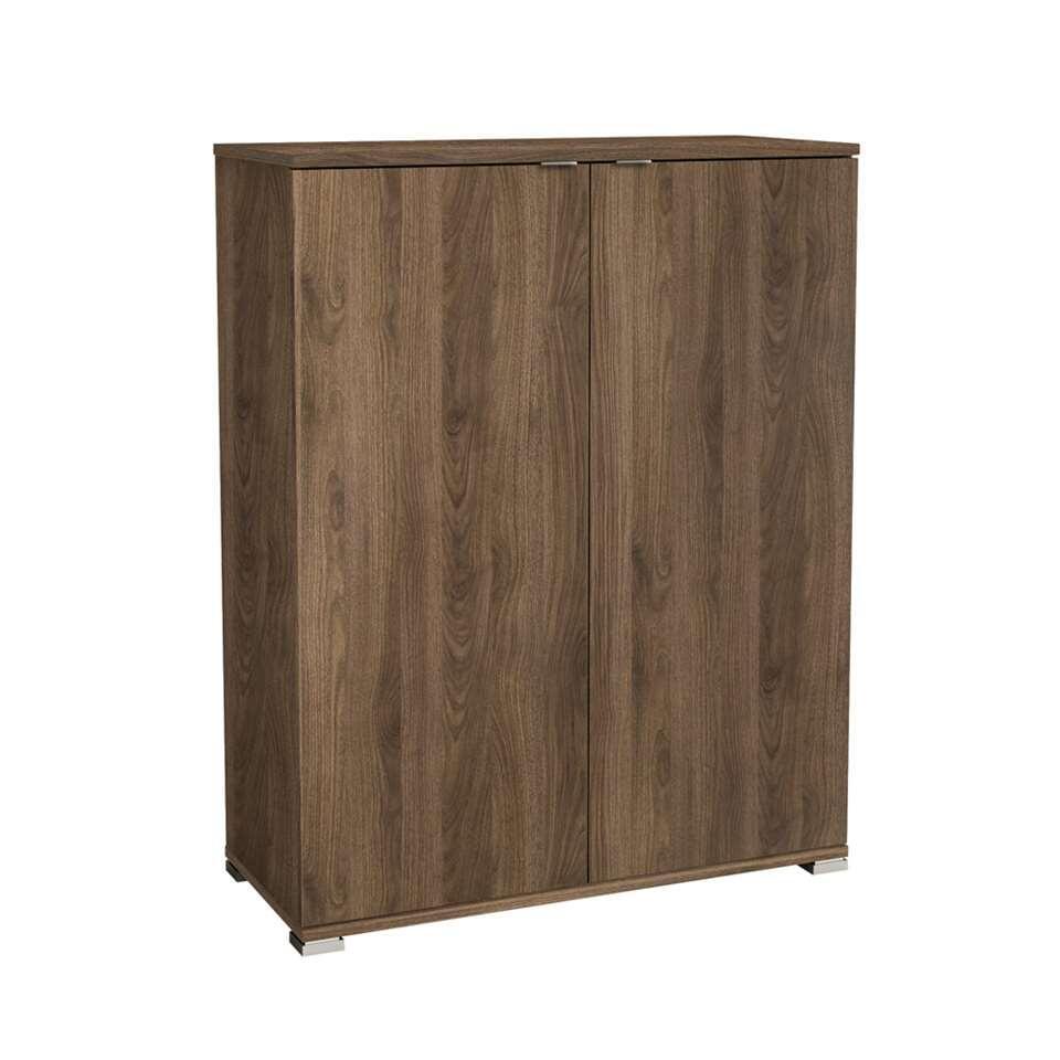 Demeyere kast Perfect 2-deurs - walnootkleur - 101,2x79,7x35,1 cm - Leen Bakker