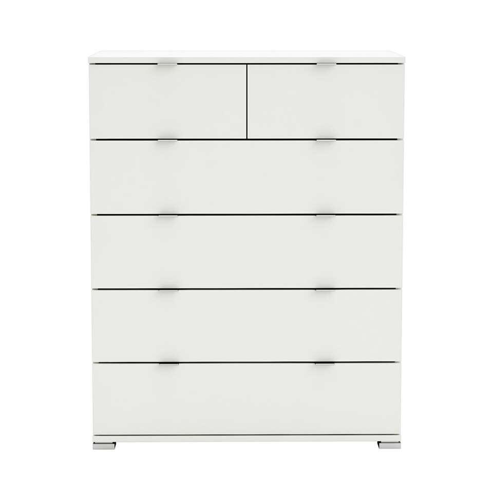 Demeyere ladekast Perfect in een mooie witte kleur is een commode met 6 ruime lades. Ideaal voor in de slaapkamer. Deze commode is ontworpen voor in een modern en elegant interieur.