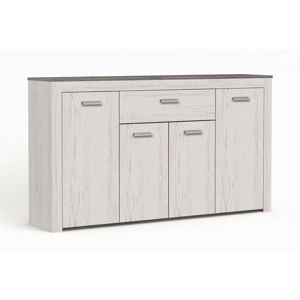 Demeyere dressoir Brava 4-deurs - wit - 86,2x151,2x35,3 cm - Leen Bakker