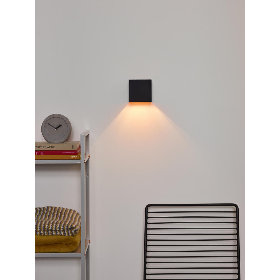 Lucide wandlamp Xio - zwart