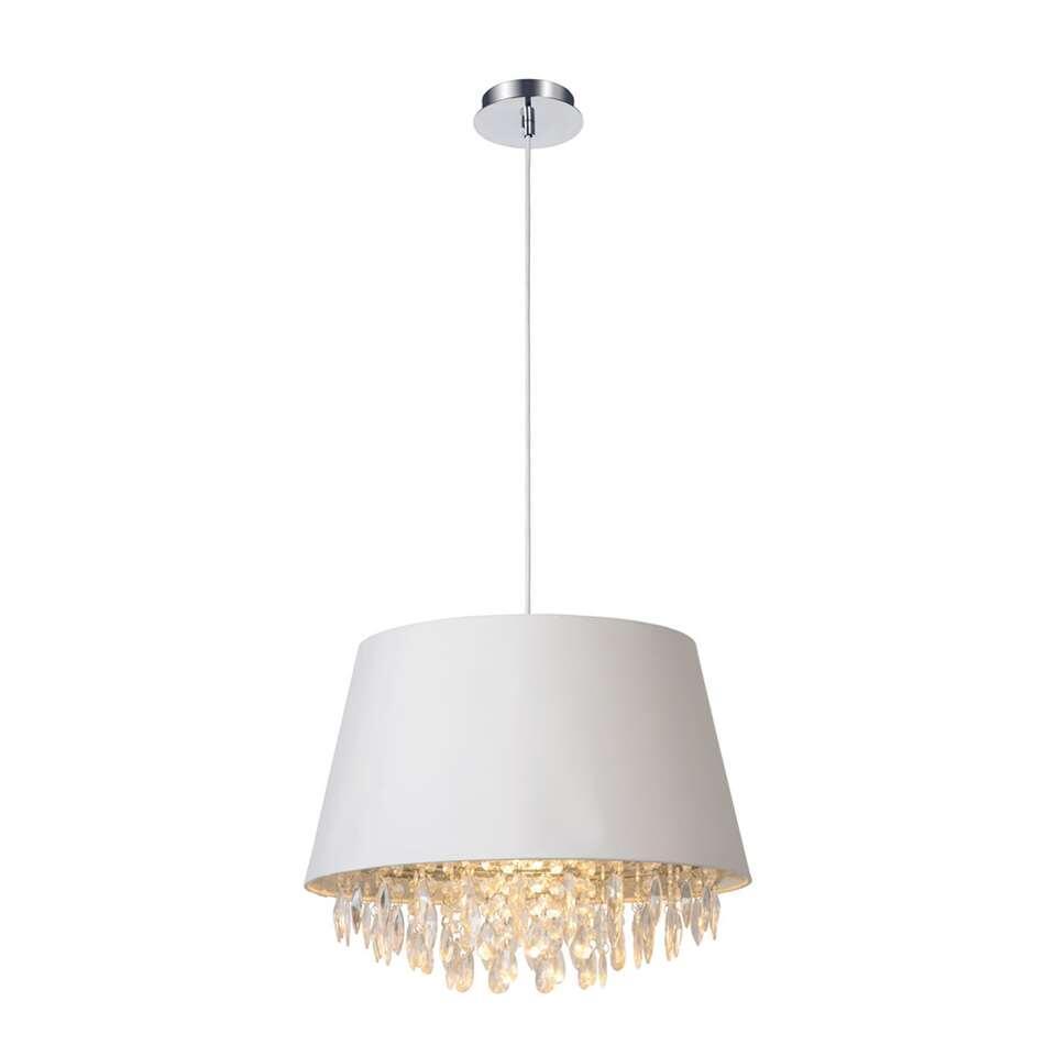 In de Dolti-pendellamp van Lucide klopt een modern hart. De E27-fitting wordt geleverd met een vervangbare led-lamp.