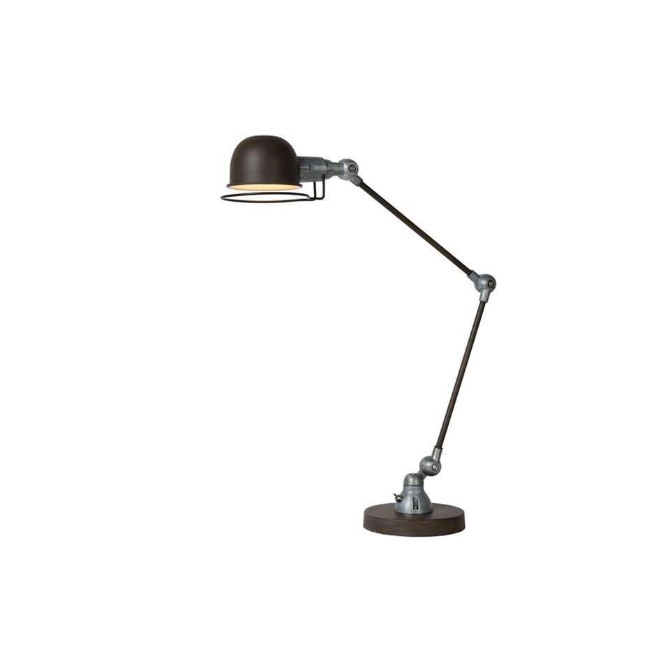 Lucide bureaulamp Honore - roest bruin