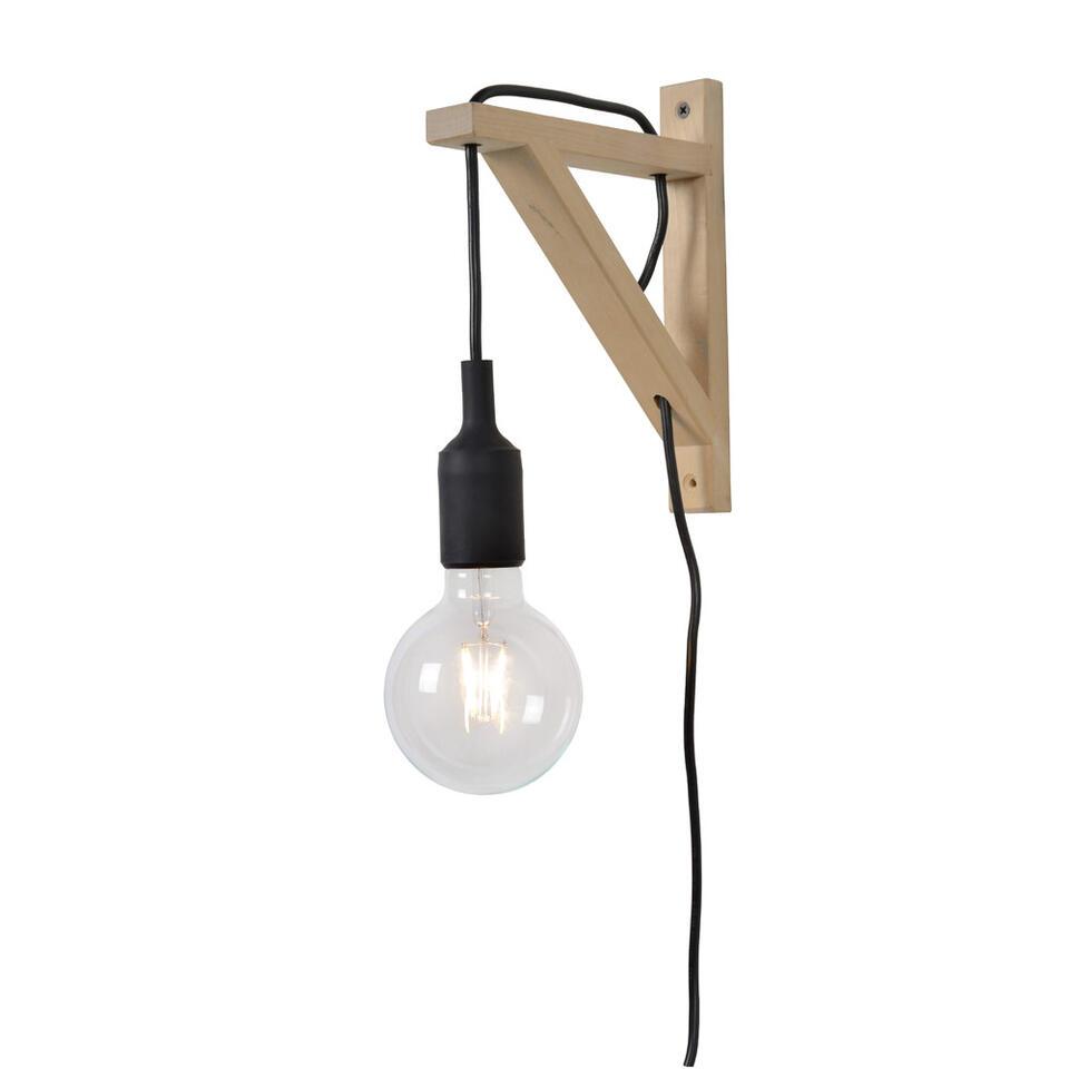 Lucide wandlamp Fix Wall – zwart – Leen Bakker
